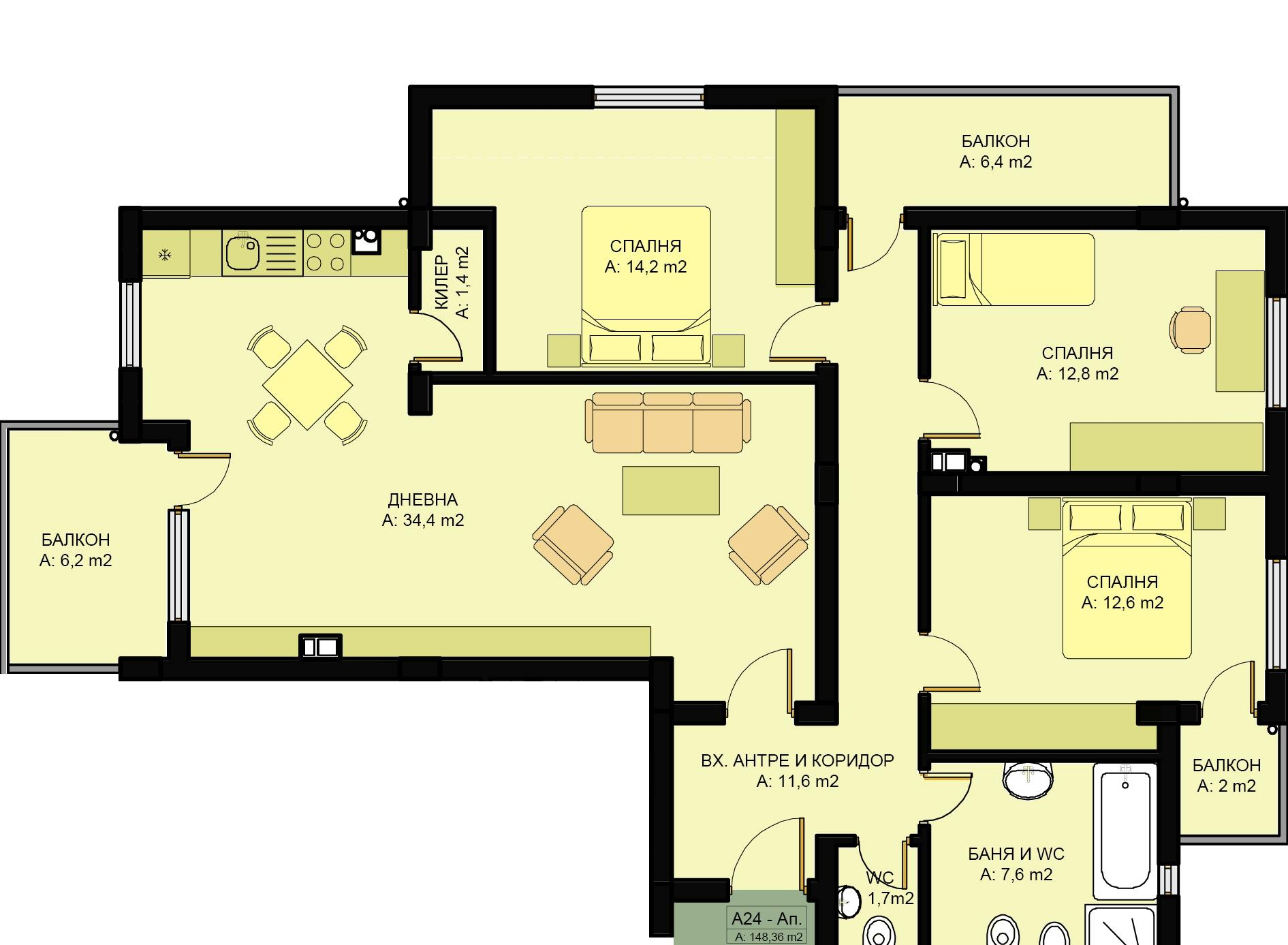 Complex Family 3 Three Bedroom Apartments Www