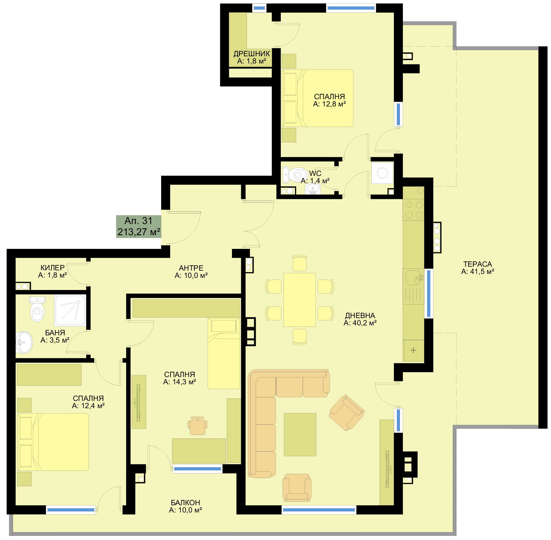 Complex Family 6 Three Bedroom Apartments Www
